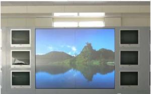 章丘埠村煤矿监控室大屏幕灯泡更换工作
