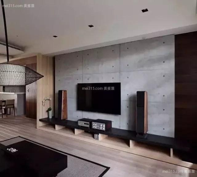 工业风水泥电视背景墙,省钱又好看 !